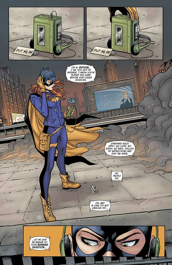 Batgirl vs. the Riddler #1 art by Minkyu Jung, Jose Marzan Jr., and Jordie Bellaire