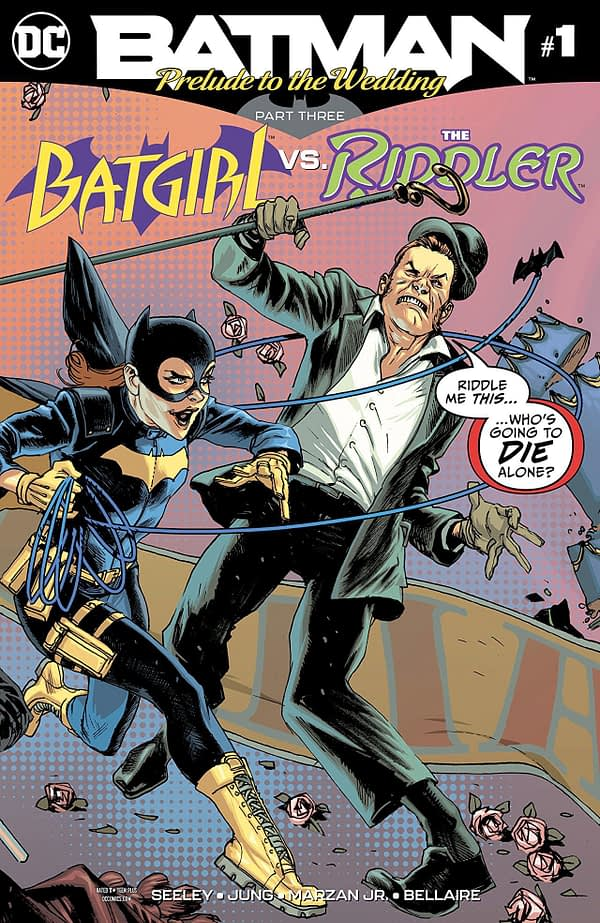 Batgirl vs. the Riddler #1 cover by Rafael Albuquerque and Dave McCaig