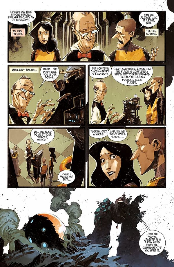 Black Science #36 art by Matteo Scalera and Moreno Dinisio