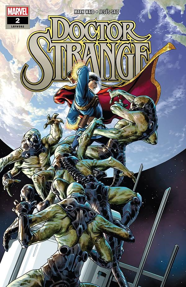 Doctor Strange #2 cover by Jesus Saiz