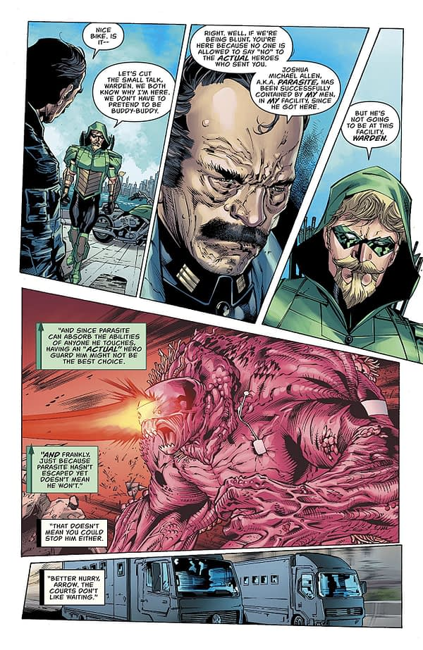 Green Arrow #41 art by Matthew Clark, Sean Parsons, and Jason Wright