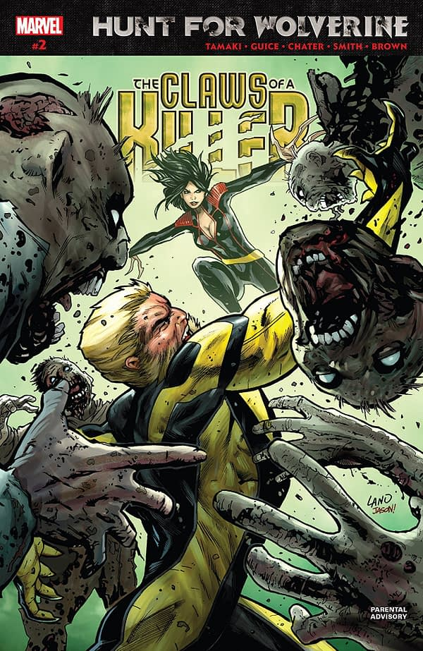 Hunt for Wolverine: Claws of a Killer #2 cover by Greg Land