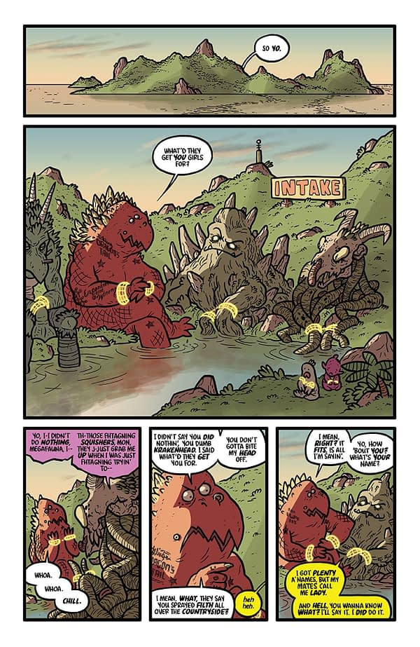 Kaijumax: Season 4 #1 art by Zander Cannon and Jason Fischer