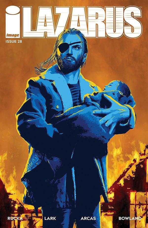 Lazarus #28 cover by Michael Lark