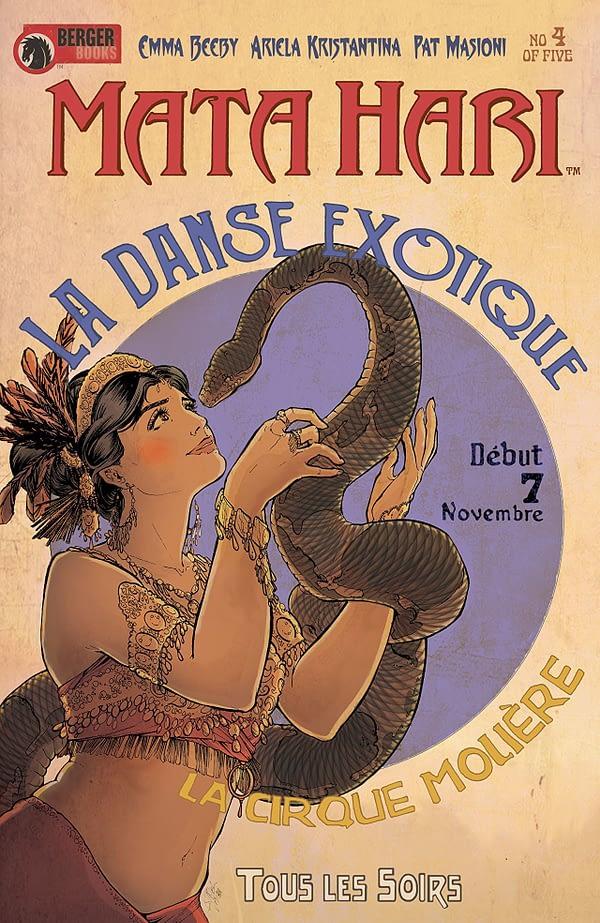 Mata Hari #4 cover by Ariela Kristantina and Pat Masioni