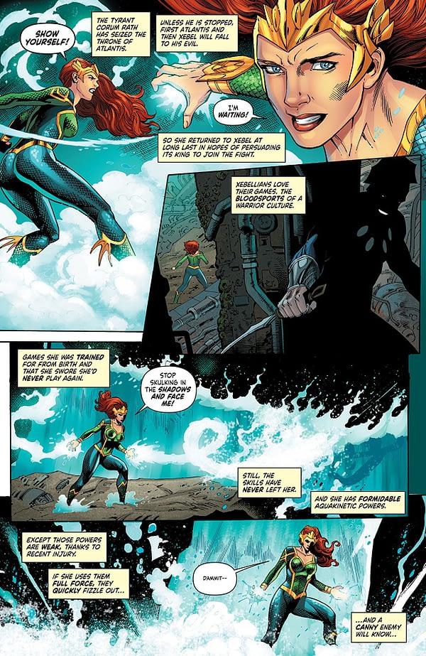Mera: Queen of Atlantis #5 art by Lan Medina, Norm Rapmund, and Veronica Gandini