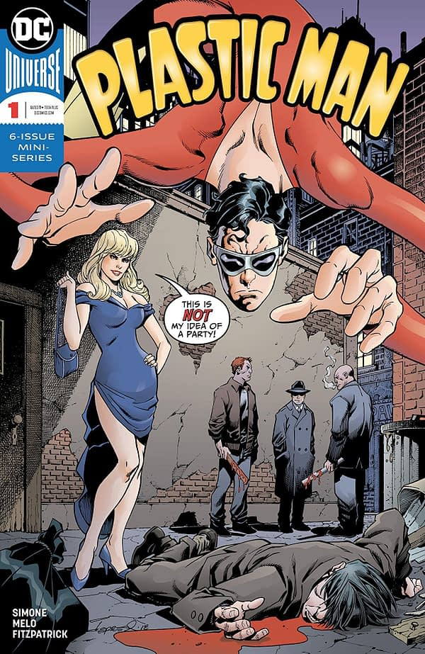 Plastic Man #1 cover by Aaron Lopresti