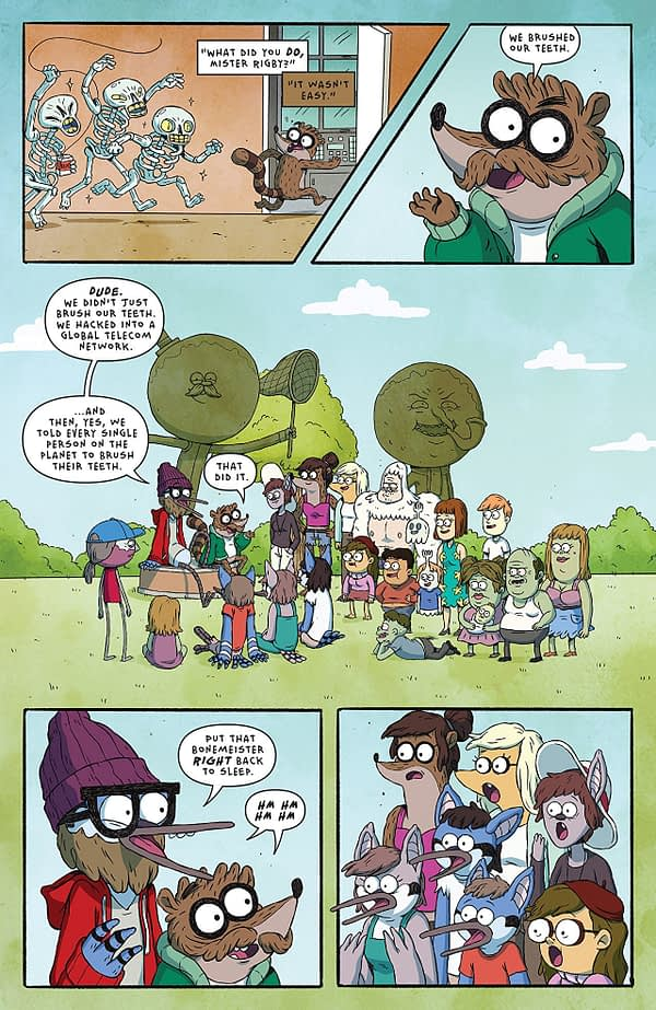 Regular Show: 25 Years Later #1 art by Anna Johnstone and Joana Lafuente