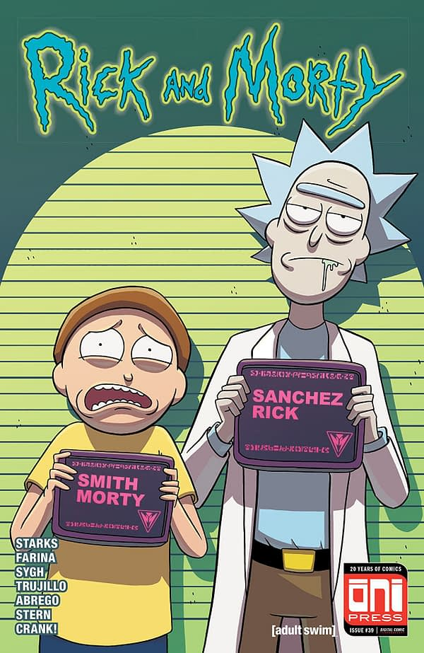 Rick and Morty #39 cover by Marc Ellerby and Sarah Stern