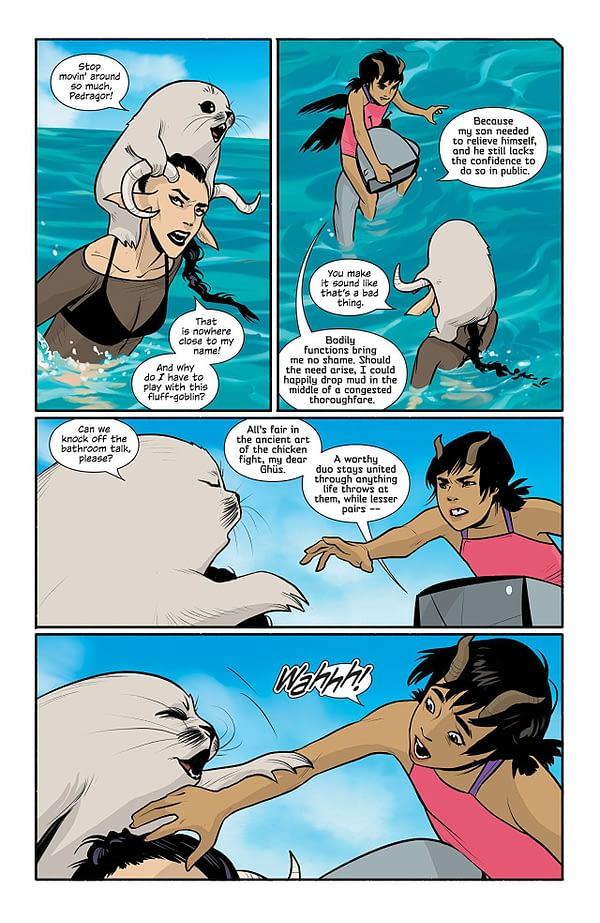 Saga #52 art by Fiona Staples