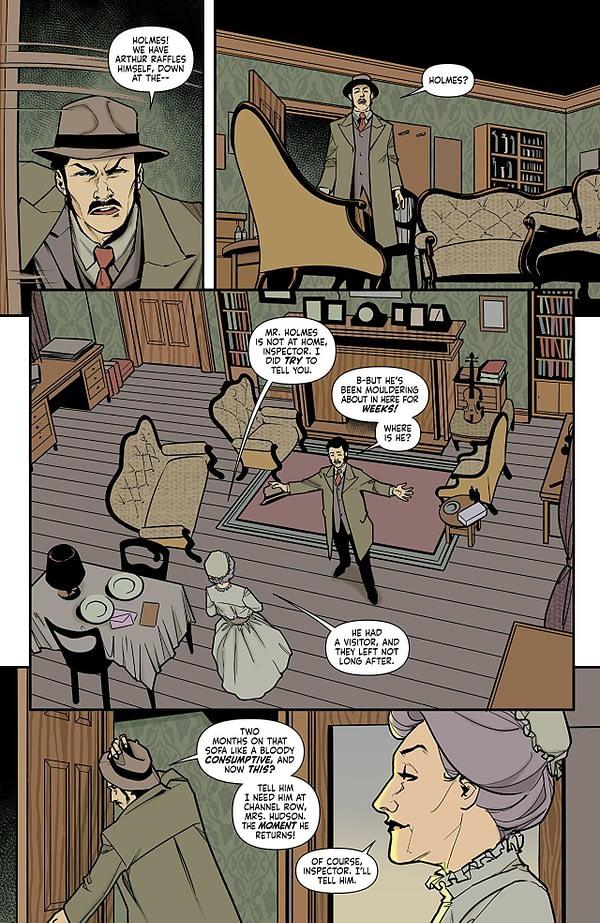 Sherlock Holmes: The Vanishing Man #2 art by Julius Ohta and Ellie Wright