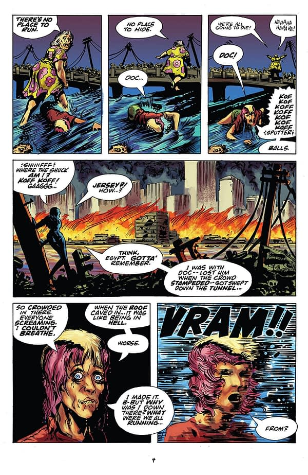 Rick Veitch's the One #5 art by Rick and Kirby Veitch