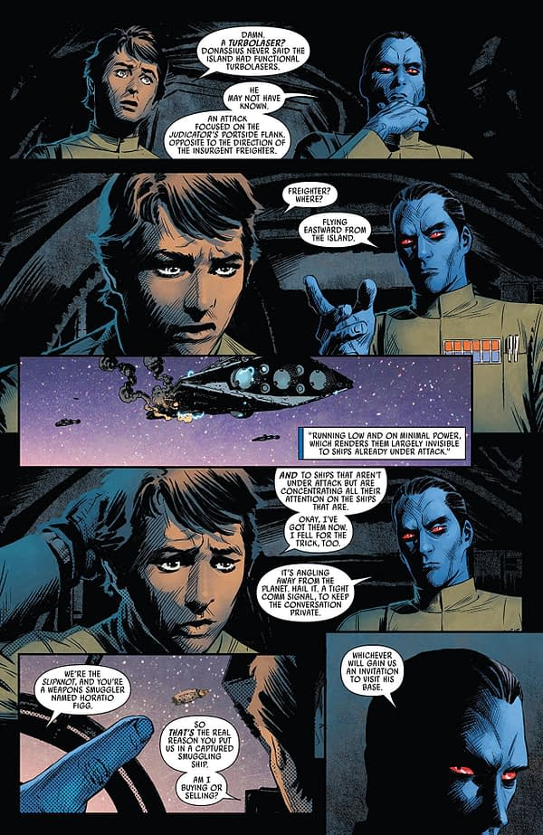 Star Wars: Thrawn #5 art by Luke Ross and Nolan Woodard