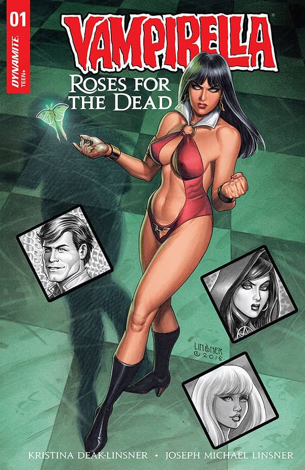 Vampirella: Roses for the Dead #1 cover by Joseph Michael Linsner