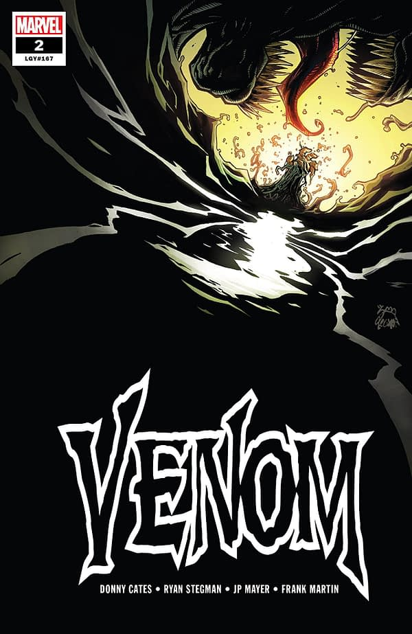 Venom #2 cover by Ryan Stegman and Frank Martin