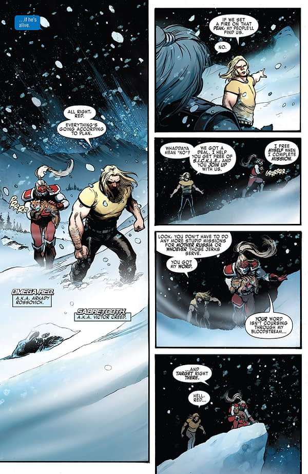 Weapon X #19 art by Yildiray Cinar and Frank D'Armata