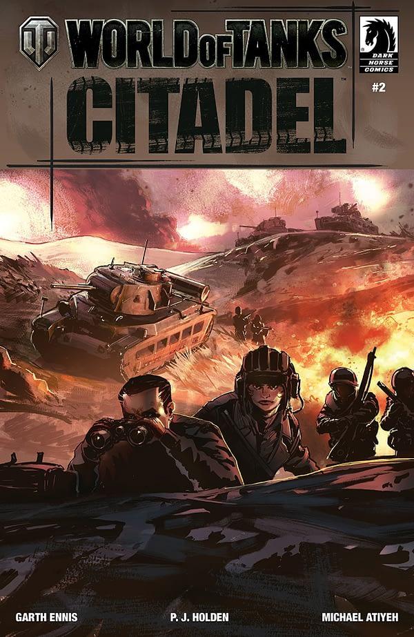 World of Tanks: Citadel #2 cover by Isaac Hannaford