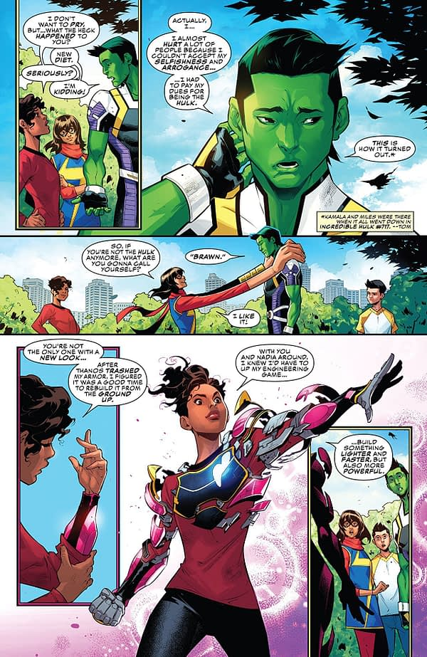 Champions #22 art by Kevin Libranda and Marcio Menyz