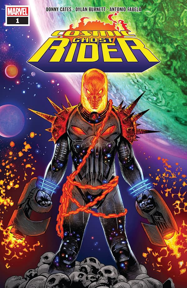 Cosmic Ghost Rider #1 cover by Geoff Shaw and Antonio Fabela