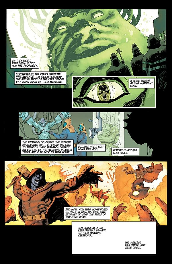 Death of the Inhumans #1 art by Ariel Olivetti and Jordie Bellaire
