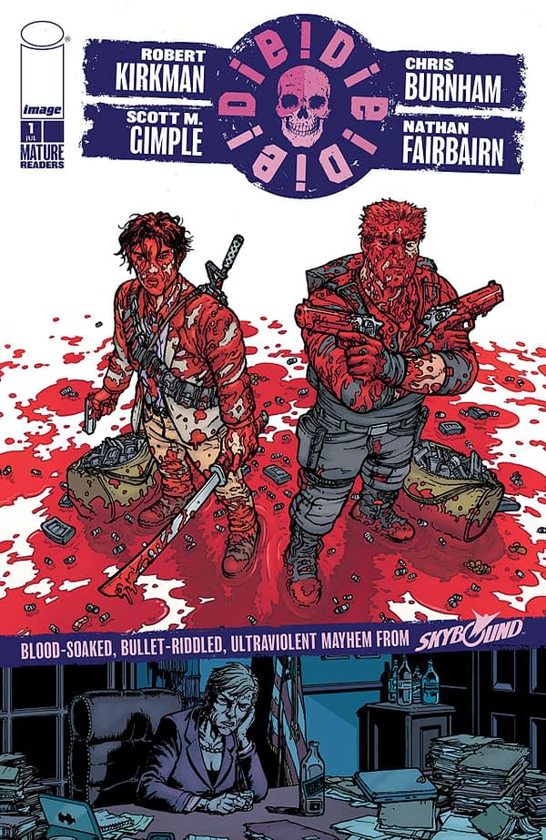 Die Die Die #1 cover by Chris Burnham and Nathan Fairbairn