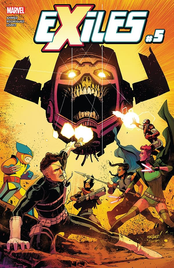 Exiles #5 cover by David Marquez