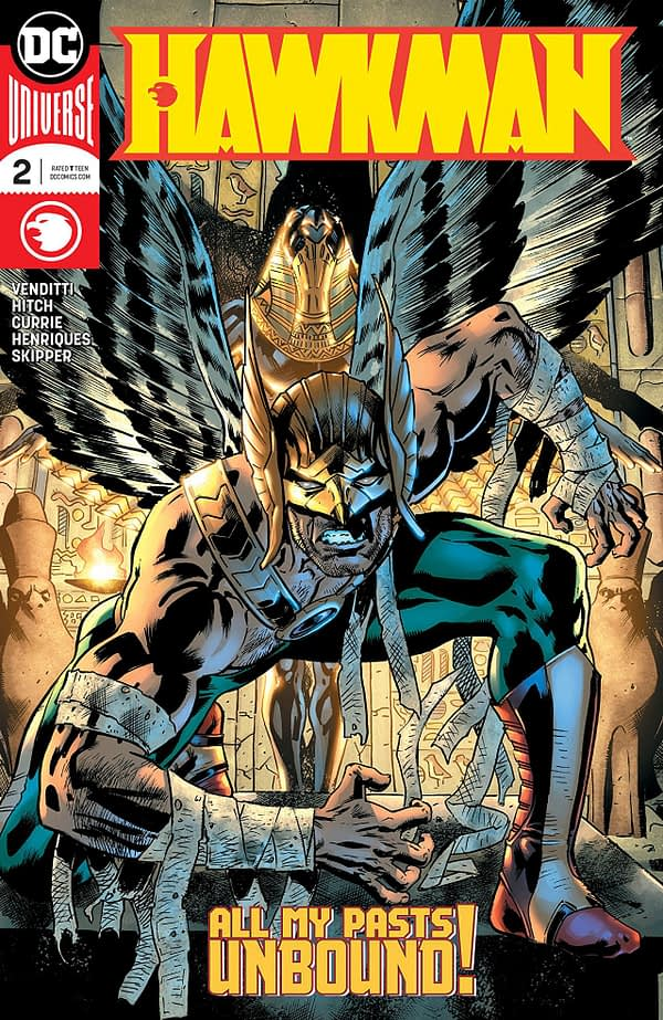 Hawkman #2 cover by Bryan Hitch and Alex Sinclair