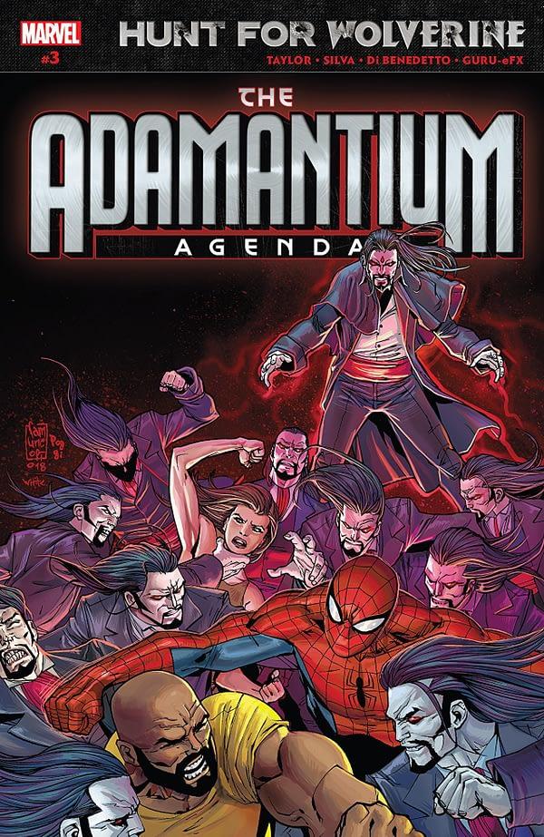 Hunt for Wolverine: Adamantium Agenda #3 cover by Giuseppe Camuncoli, Robert Poggi, and Dean White