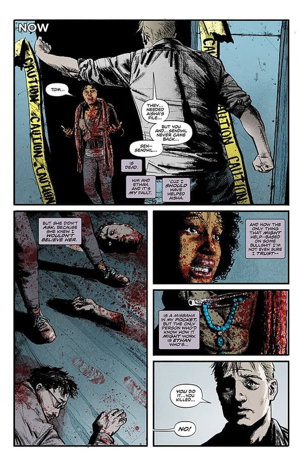 Infidel #5 art by Aaron Campbell and Jose Villarrubia