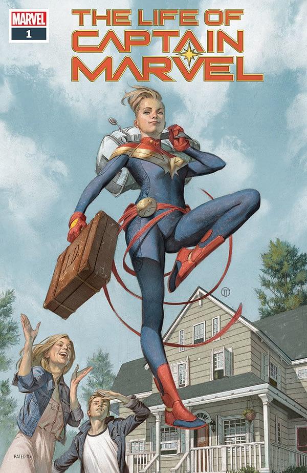 The Life of Captain Marvel #1 cover by Julian Totino Tedesco