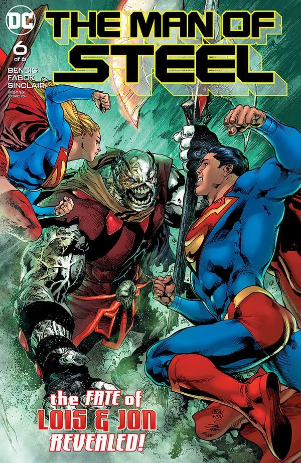 Man of Steel #6 cover by Ivan Reis, Joe Prado, and Alex Sinclair