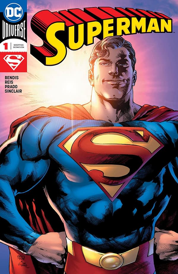 Superman #1 cover by Ivan Reis, Joe Prado, and Alex Sinclair