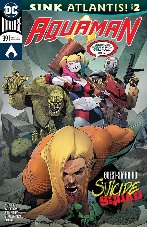 Aquaman #39 cover by Rafa Sandoval and Ivan Plascencia