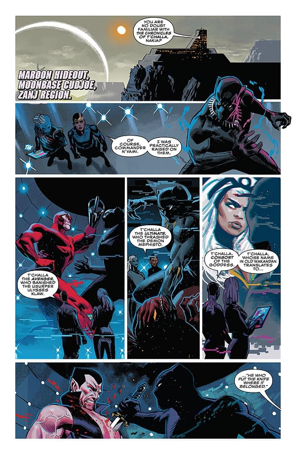 Black Panther #3 art by Daniel Acuna