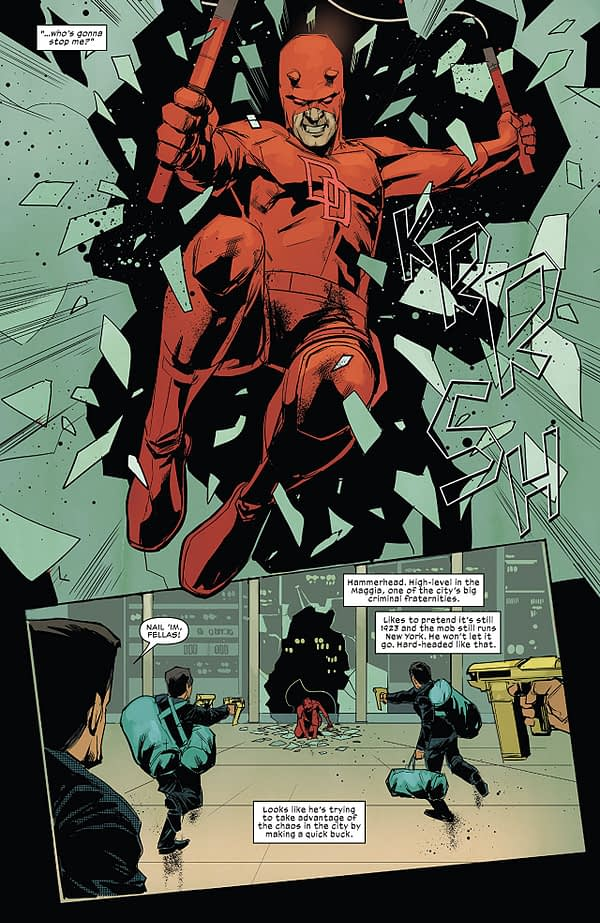 Daredevil #606 art by Phil Noto