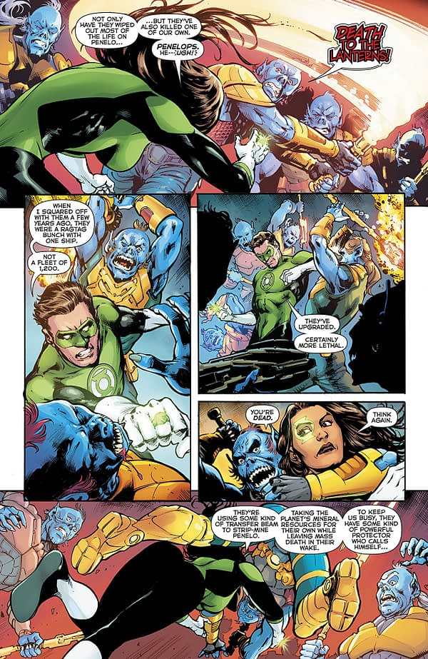 Green Lanterns #53 art by Marco Santucci and Hi-Fi