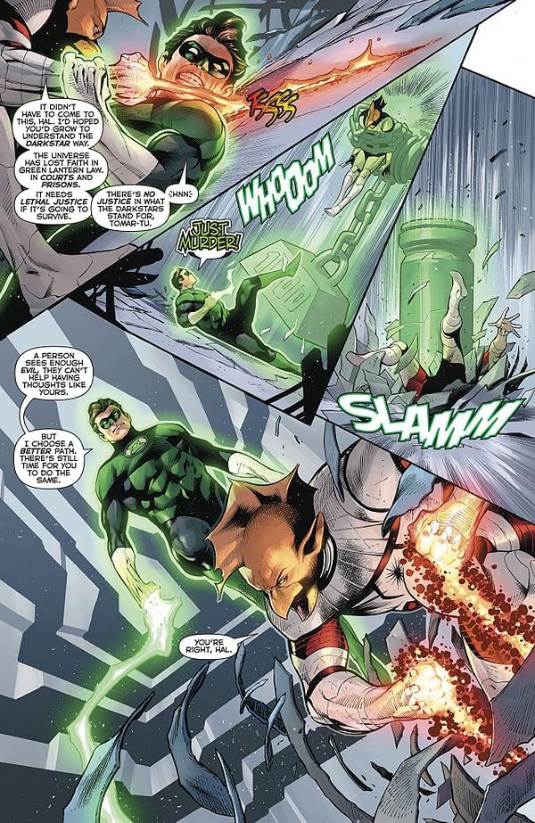 Hal Jordan and the Green Lantern Corps #50 art by Rafa Sandoval, Jordi Tarragona, and Tomeu Morey