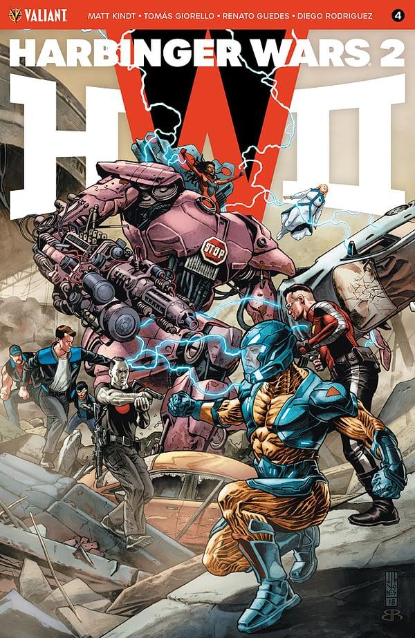 Harbinger Wars II #4 cover by J.G. Jones
