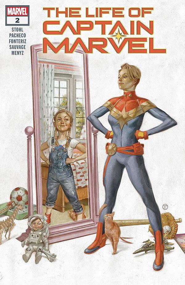 The Life of Captain Marvel #2 cover by Julian Totino Tedesco