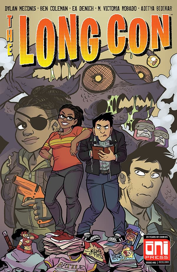 The Long Con #1 cover by Ea Denich