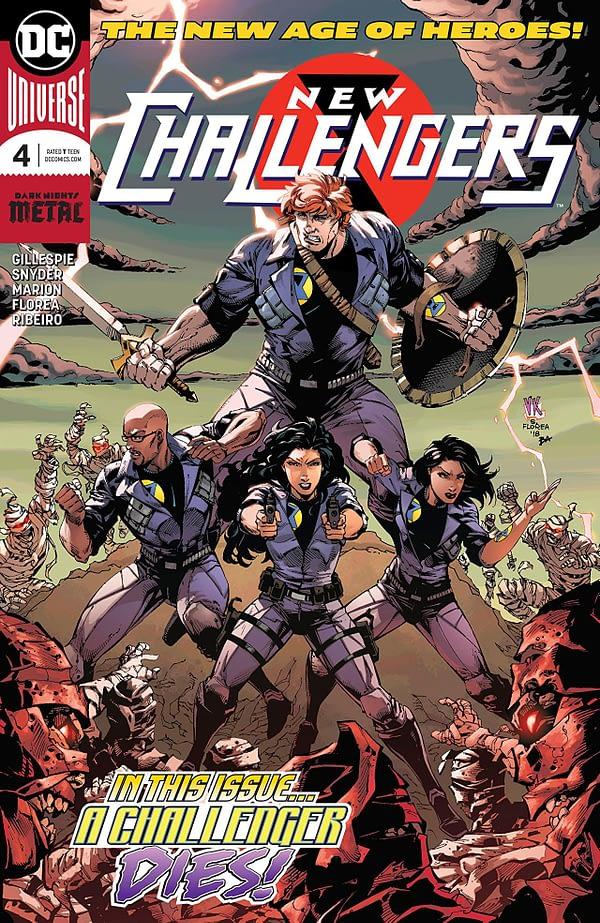 New Challengers #4 cover by V. Ken Marion, Sandu Florea, and Dinei Ribeiro