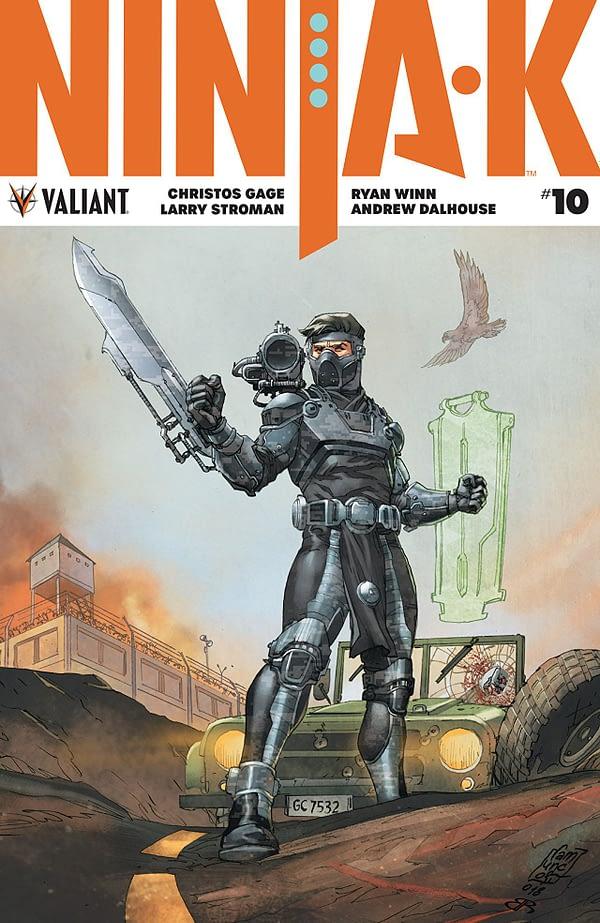 Ninja-K #10 cover by Giuseppe Camuncoli