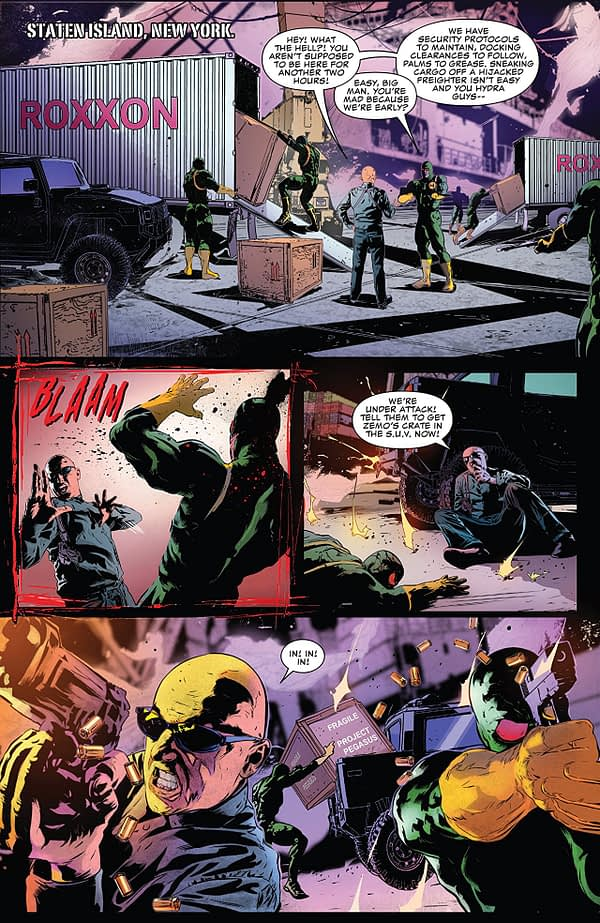 The Punisher #1 art by Szymon Kudranski and Antonio Fabela