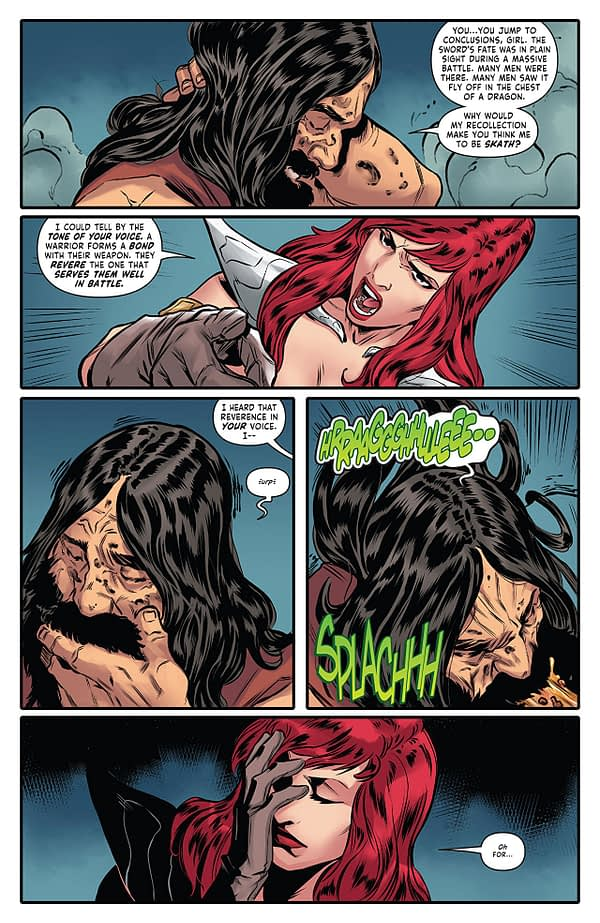 Red Sonja #20 art by Carlos Gomez, Vincenzo Federici, and Mohan