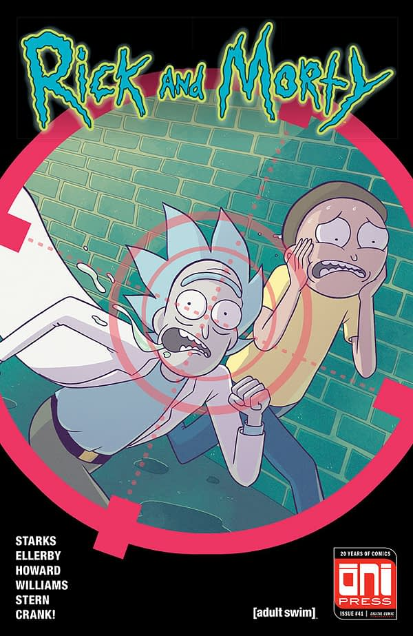 Rick and Morty #41 cover by Marc Ellerby