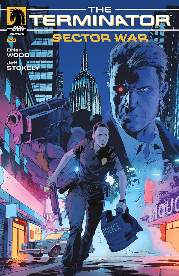 Terminator: Sector War #1 cover by Robert Sammelin