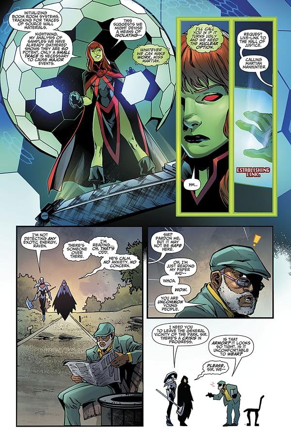 Titans #24 art by Brent Peeples, Matt Santorelli, and Ivan Plascencia
