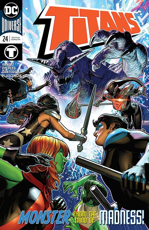 Titans #24 cover by Brandon Peterson