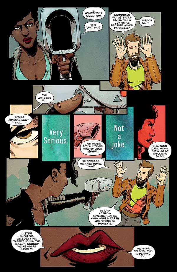 Vagrant Queen #3 art by Jason Smith and Harry Saxon