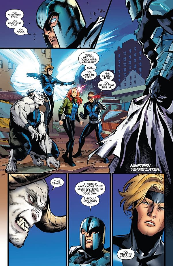 X-Men: Blue #34 art by Marcus To and Matt Milla